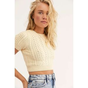 NWOT Free People Short + Sweet Sweater Brahmi sz S